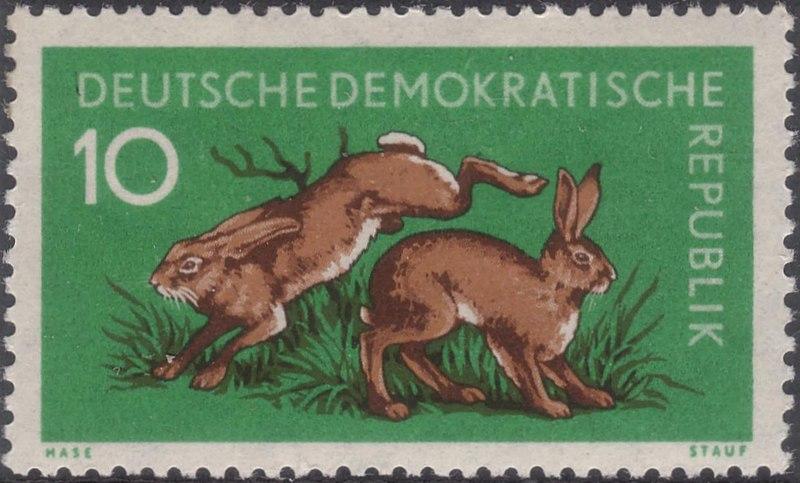 Briefmarken DDR 1959 Tiere Briefmarke Hase