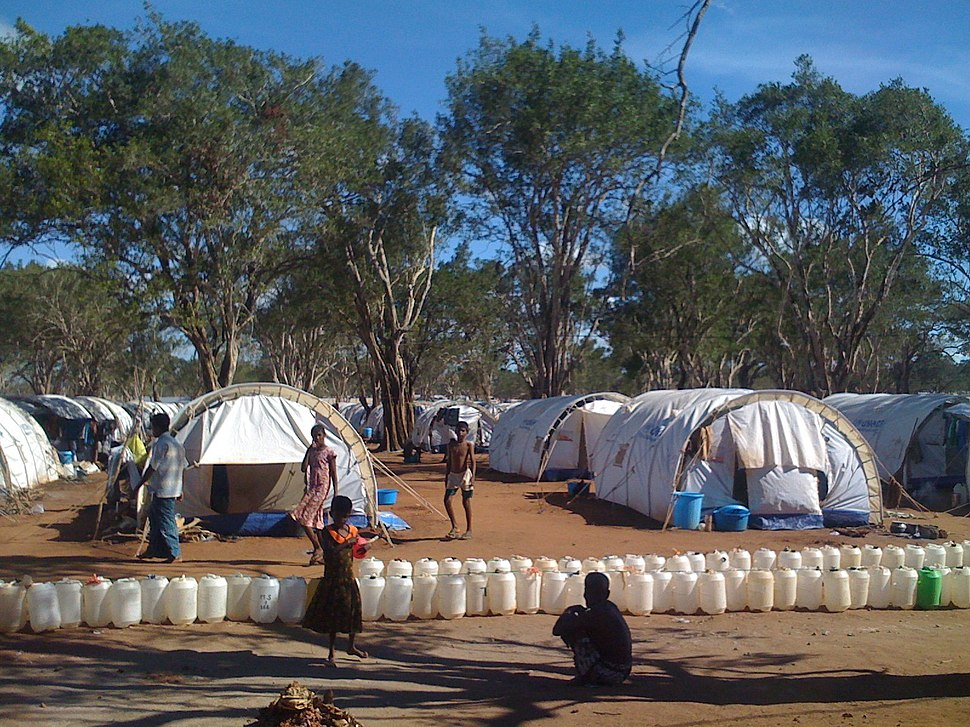 DFID-funded, UNHCR emergency shelter tents, in the IDP camp at Menik Farm, Sri Lanka (3694081492)