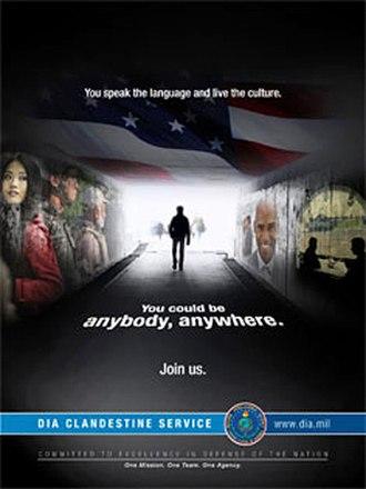 Defense Clandestine Service - Defense Clandestine Service recruitment poster