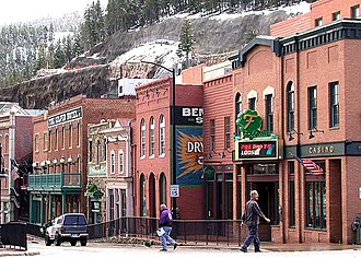Black Hawk, Colorado - Restored historic buildings in downtown Black Hawk