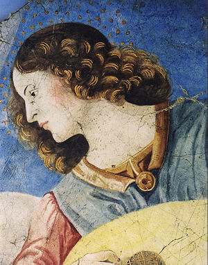 Santi Apostoli, Rome - Image: Da Forli Angel with Lute head