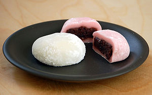 Daifuku filled with red bean paste
