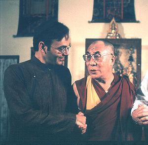 Dalai Lama Renaissance - Producer-Director Khashyar Darvich with the Dalai Lama in India during filming of the documentary.