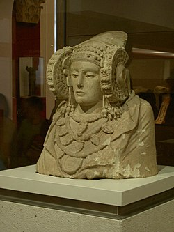 Iberian Lady of Elche highly influenced by the Carthaginian culture