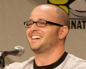 Damon Lindelof laughs at a question. Comic-con...