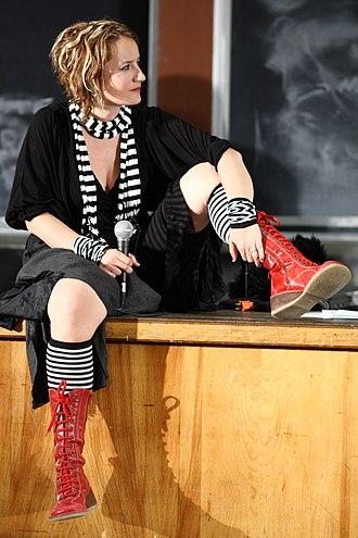 Danah boyd - danah boyd giving a keynote at ROFLcon at MIT in 2010