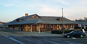 Danbury Railway Museum - Former Union Station, the museum building in 2007.