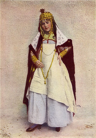National Geographic Society - A dancer of the cafes, Algeria, 1917 photograph from National Geographic magazine