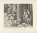 Daniël strooit as op de tempelvloer Geschiedenis van Daniël, Bel en de draak (serietitel), RP-P-1904-3456.jpg