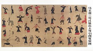 Tao yin - Reconstructed Daoyin tu Drawings of Guiding and Pulling in the Mawangdui Silk Texts