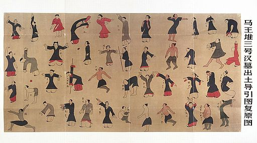 Daoyin tu - chart for leading and guiding people in exercise Wellcome L0036007