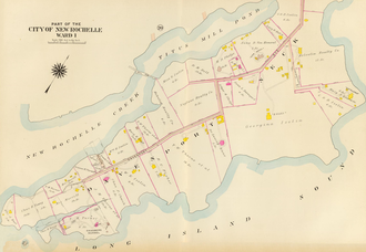 Davenport Neck - Image: Davenport Neck Old Map