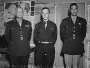 Noel F. Parrish with Tuskegee Airmen Benjamin Davis Sr. and Jr.