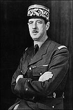 Général de Gaulle, Président du gouvernement provisoire jusqu en octobre 1945