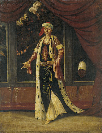 Valide sultan - An Eighteenth Century painting of a Valide Sultan by Jean Baptiste Vanmour.