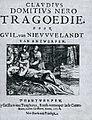 De titelpagina van het toneelstuk Nero Guilliam van Nieuwelandt.jpg