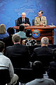Defense.gov News Photo 100624-D-9880W-125 - Secretary of Defense Robert M. Gates and Chairman of the Joint Chiefs of Staff Adm. Mike Mullen hold a joint Pentagon press conference to discuss.jpg