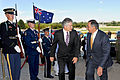 Defense.gov News Photo 110727-D-WQ296-022 - Secretary of Defense Leon E. Panetta right escorts Australian Minister of Defense Stephen Smith through an honor cordon and into the Pentagon on.jpg