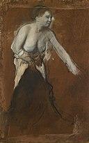 Degas - Jeune fille à demi dévêtue (Jeune femme à sa toilette), 1866-1868.jpg
