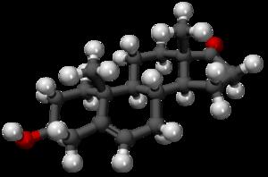 Prasterone - Image: Dehidroepiandrostero na 3D