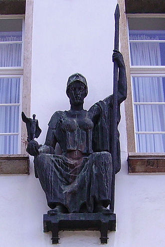 Karl Albiker - Minerva, 1931 (see below as well)