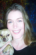 Denice D. Lewis with dog Shakespeare.jpg
