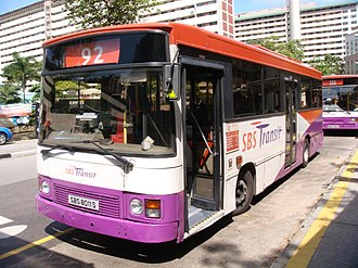 SBS Transit - Duple Metsec bodied Dennis Dart in January 2009