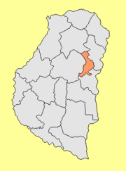 Location of San Salvador Department within Entre Ríos Province