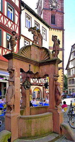Der Engelsbrunnen in Wertheim
