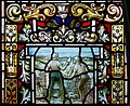 Derry Guildhall Tercentenary Window of The Honourable The Irish Society Detail Rebuilding of the city walls 2019 08 29.jpg