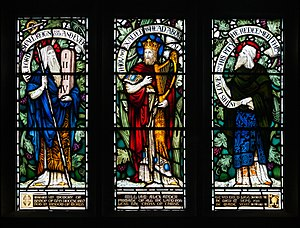 William Alexander (bishop) - Lower lights of the stained glass window in memory of William Alexander