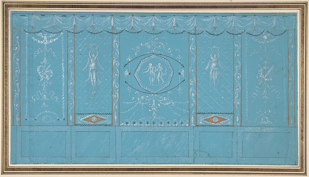 File:Design for a Decorated Wall with Grottesque over Blue ...