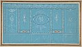 Design for a Decorated Wall with Grottesque over Blue Background MET DP807989.jpg