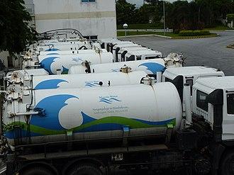 Manila Water - Desludging trucks of Manila Water in 2012