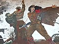 Detail of Painting of Female Partisan in Battle - National Historical Museum - Tirana - Albania - 01 (42748115122).jpg