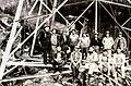 Diablo Dam power line construction work crew, circa 1930s (30597179507).jpg
