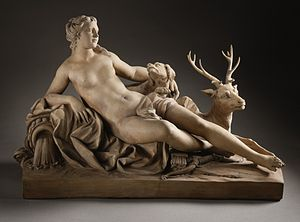 Dianic Wicca - Image: Diana with a Stag and a Dog LACMA M.78.77
