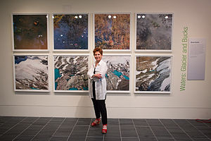Environmental art -  Diane Burko, Waters Glacier and Bucks, 2013