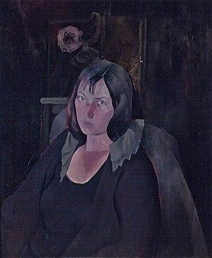 Janice Biala - Edwin Dickinson, Portrait of Biala, née Janice Tworkov, 1924, oil on canvas, 30 × 25 inches