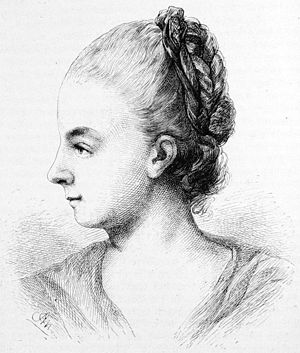 Gottfried August Bürger - Dorette Bürger, after a pastel drawing by her sister Auguste in 1781.