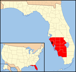 Roman Catholic Diocese of Venice in Florida - Image: Diocese of Venice in Florida map 1
