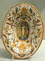 Dish from the service of Alfonso Il d'Este, 1579 or later, Urbino, probably from the Patanazzi workshop, tin-glazed earthenware (maiolica) - Gardiner Museum, Toronto - DSC01275.JPG