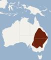 Distribution of Chalinolobus picatus.png