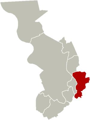 Deurne, Belgium - Image: District Deurne Location