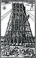 Domenico Fontana, Lowering of Vatican Obelisk, Rome, 1586.jpg