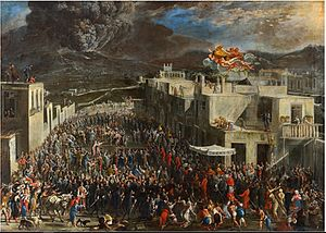 Domenico Gargiulo - The eruption of the Vesuvius in 1631