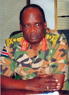 Dominic Dim Deng Southern Sudan Defence Minister