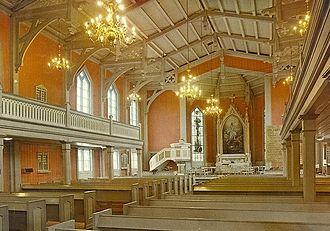 Tromsø Cathedral - Image: Domkirken i Tromso innvendig