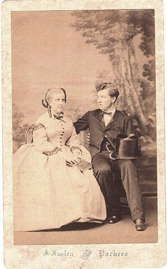 Princess Leopoldina of Brazil - Leopoldina and Ludwig August of Saxe-Coburg and Gotha (1865)