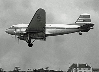 Court Line - Douglas DC-3 of Autair at Manchester in 1962